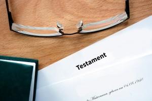 Testament-Zettel